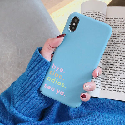 Youth Culture Words Phone Cases For Iphone XS MAX XR X Matte Fashion Case Cute Heart Fundas For On Iphone 6 6S 7 8 Plus Back