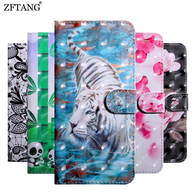 ZFTANG 3D Animal Case For Capa Huawei Mate 20 Lite Case Leather Flip Wallet Phone Cases For Coque Huawei Mate 20 Pro Case Cover