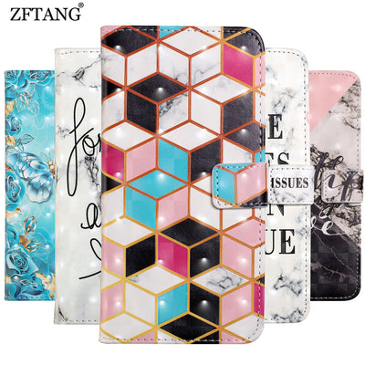 ZFTANG 3D Leather Case For Huawei Mate 20 Lite Case Luxury Wallet Stand Flip Phone Cases For Coque Huawei Mate 20 Pro Case Cover