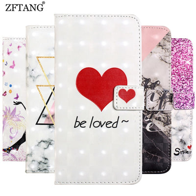 ZFTANG Leather Phone Cases For Huawei Mate 10 Lite Case Luxury Flip Wallet Book Case For Coque Huawei Mate 10 Lite Case Cover