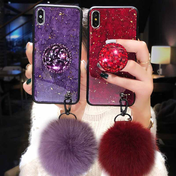 Zxtrby Hairly Wristband Phone Case For IPhone X 10 7 8 6 6S PLus Case XR XS Max Soft TPU Marble Back Cover Cases