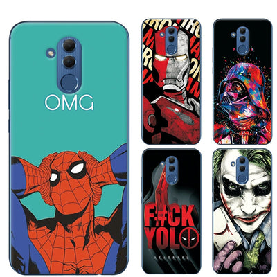 Adlucky Iron Man The Avengers Phone Case For Huawei Mate 20 Lite Charming Spiderman Cover Case For Huawei Mate 20 Lite 6.23""
