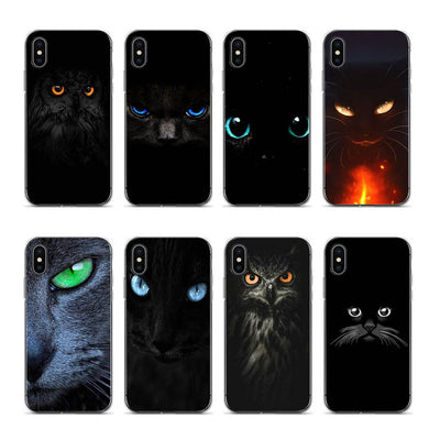 Aiboduo Eyes In Black Cat Owl For Coque Iphone 7 Plus For Apple IPhone 6 6plus 6s 7 8 7plus 8plus Xr Xs Xsmax