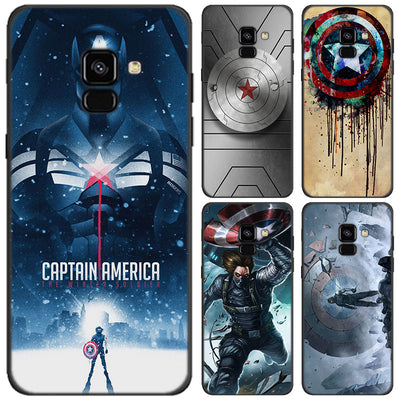 Captain America Winter Soldier Case For Samsung Galaxy J4 J6 Plus J8 2018 Soft Silicone Black Case For Galaxy A6 A8 Plus 2018
