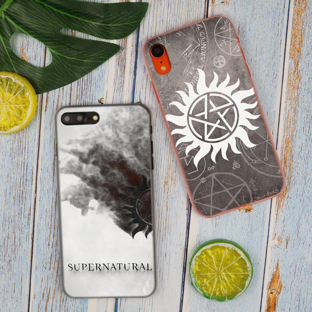 Fashion TV Show Supernatural Logo Hot Fashion Transparent Hard Phone