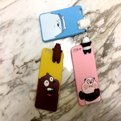 For Huawei P9 Plus P9 Cover 3D Cute Cartoon We Bare Bears Brothers Funny Toys Soft Phone Case For Huawei P9 Lite Cover Case