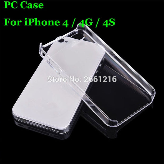 I4 4S Hard PC Case Ultra Thin Clear Hard Plastic Cover Protective Skin For Apple IPhone 4 4G 4S 3.5 Inch