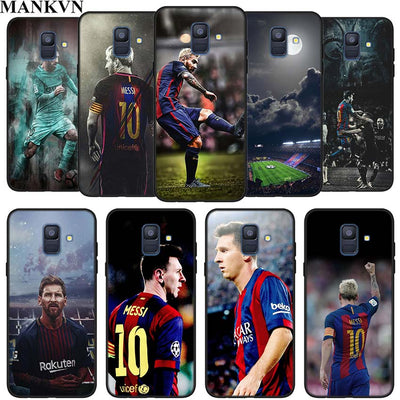 Lionel Messi Silicone TPU Phone Cases Cover For Samsung Galaxy A6 A6+ A8 A8+ A7 A9 2018 Soft Black Case