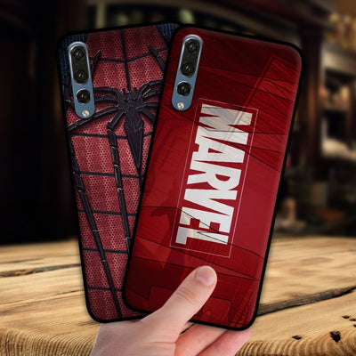 Mosirui For Huawei P20 Pro Lite Case Marvel Hero Deadpool Spiderman Black Panther Hulk Silicone Soft Shell Black Matte Case