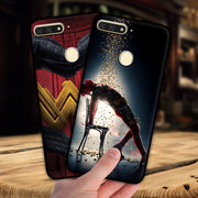 Mosirui For Huawei Y6 Prime 2018 Case Marvel Hero Deadpool Spiderman Black Panther Hulk Silicone Soft Shell Black Matte Case