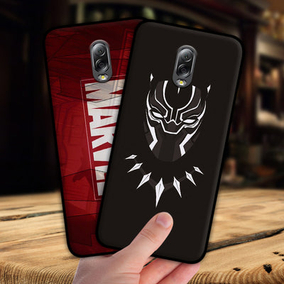 Mosirui For Samsung Galaxy C8 J7 Plus Case Marvel Hero Deadpool Spiderman Black Panther Hulk Silicone Soft Shell Black Matte