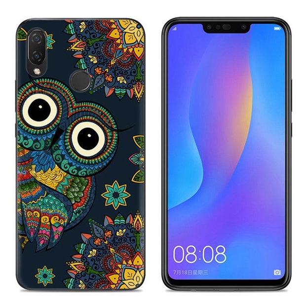 "Phone Case For Huawei P Smart Plus Cover Nova 3i 6.3"" Soft Silicone Case Cartoon Painted TPU Cover For Huawei P Smart+ Nova 3 I"
