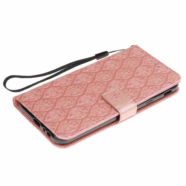 SFor Samsung Galaxy J4 Plus Leather Case On For Samsung J4 Plus J4 Prime 2018 Cover Luxury Embossed Wallet Flip Stand Phone Case