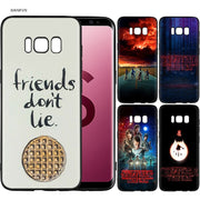Stranger Things Poster Scrub Silicone Soft Cases Cover Shell Fundas For Samsung Galaxy S9 S8 Plus S7 S6 Edge S8+ S9+ S8Plus S9Pl