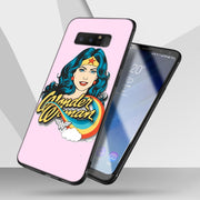 Wonder Women Black Phone Cases For Samsung Galaxy Note 9 8 S8 S9 Plus S7 Edge Soft Silicone Black Case For Galaxy Note 9 8 Case