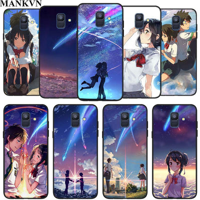 Your Name Anime Silicone Phone Case For Samsung Galaxy A6 A6+ A8 A8+ 2018 A8 A9 Star Lite Soft Black Coque Fundas