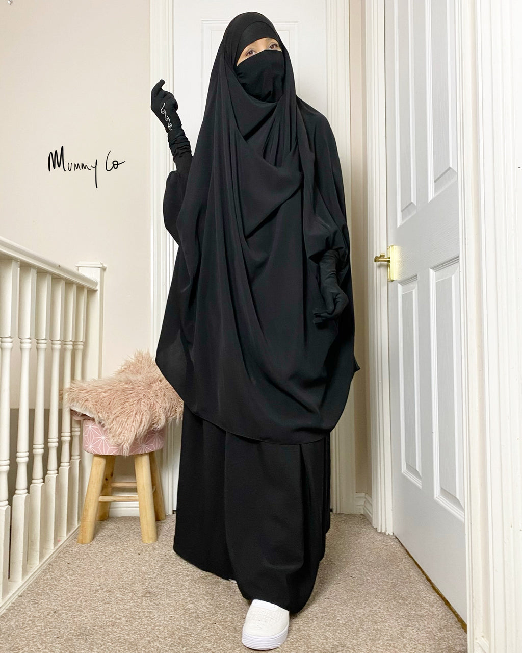 JILBAB 2 PIECES SET MUMMY & MATERNITY Black