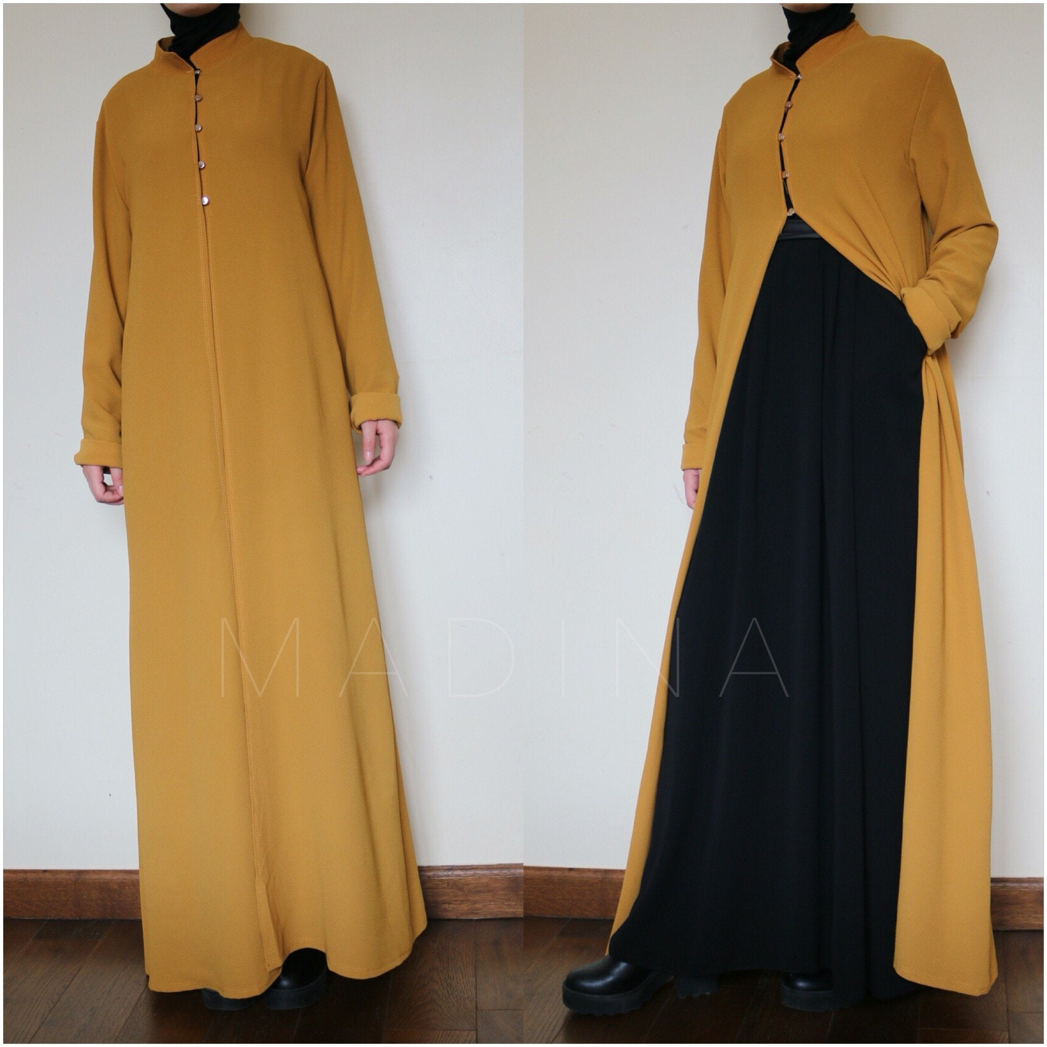 NEW ABAYA LAYER CHIFFON RAYANE (All colors)