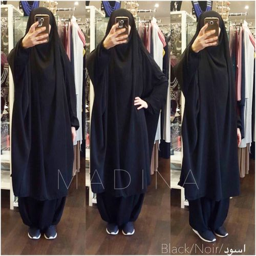 JILBAB CLASSICAL 2 Pieces BLACK