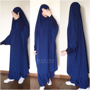 JILBAB AMANA SKIRT OR SERWAL NAVY