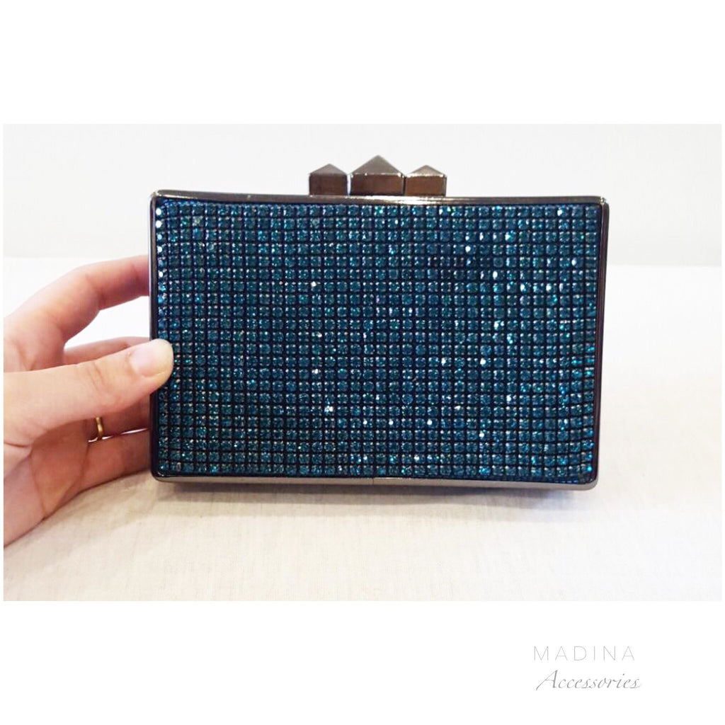 POUCH CRISTAL EVENING blue