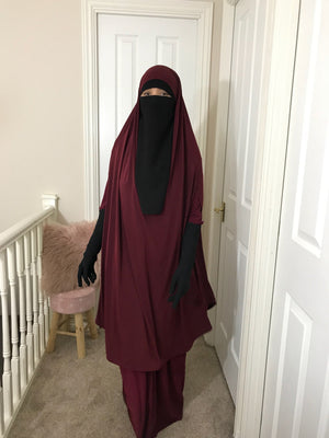 FULL SET JILBAB TOP CAPE + ABAYA PLEATED COMFORT ASMA (all colours )