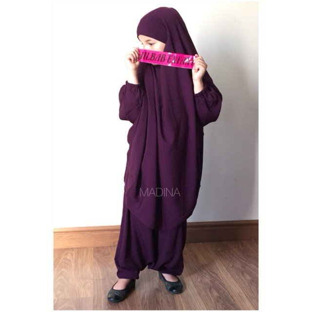 JILBAB GIRL SERWAL PURPLE