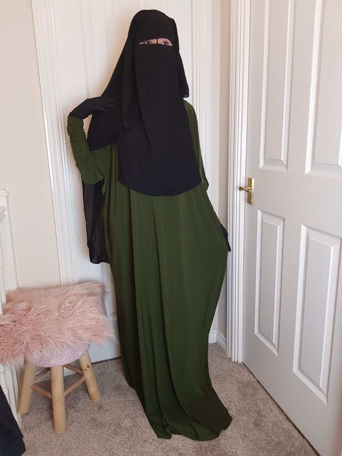 NIQAB SUTRA RYAD 3 layers rounded shape