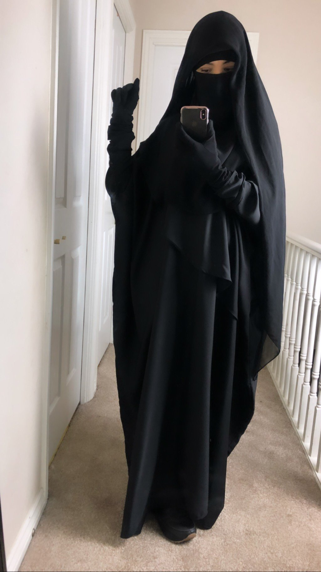NEW ABAYA MUMMY WAVY Black
