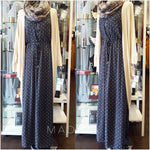 MAXI DRESS ZIPP SLEEVELESS CELINE