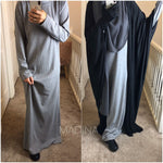 NEW UNDER JILBAB TURTLE NECK LONG DRESS DRESS KNIT (all colours)