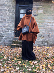 NEW MADINA WINTER PONCHO KNIT TAN
