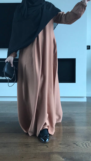 NEW ABAYA NIDHA ELYA GOLDEN CAMEL