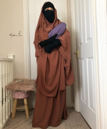 JILBAB 2 PIECES SET MUMMY & MATERNITY Caramel