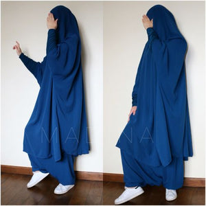 JILBAB AMANA SKIRT OR SERWAL teal