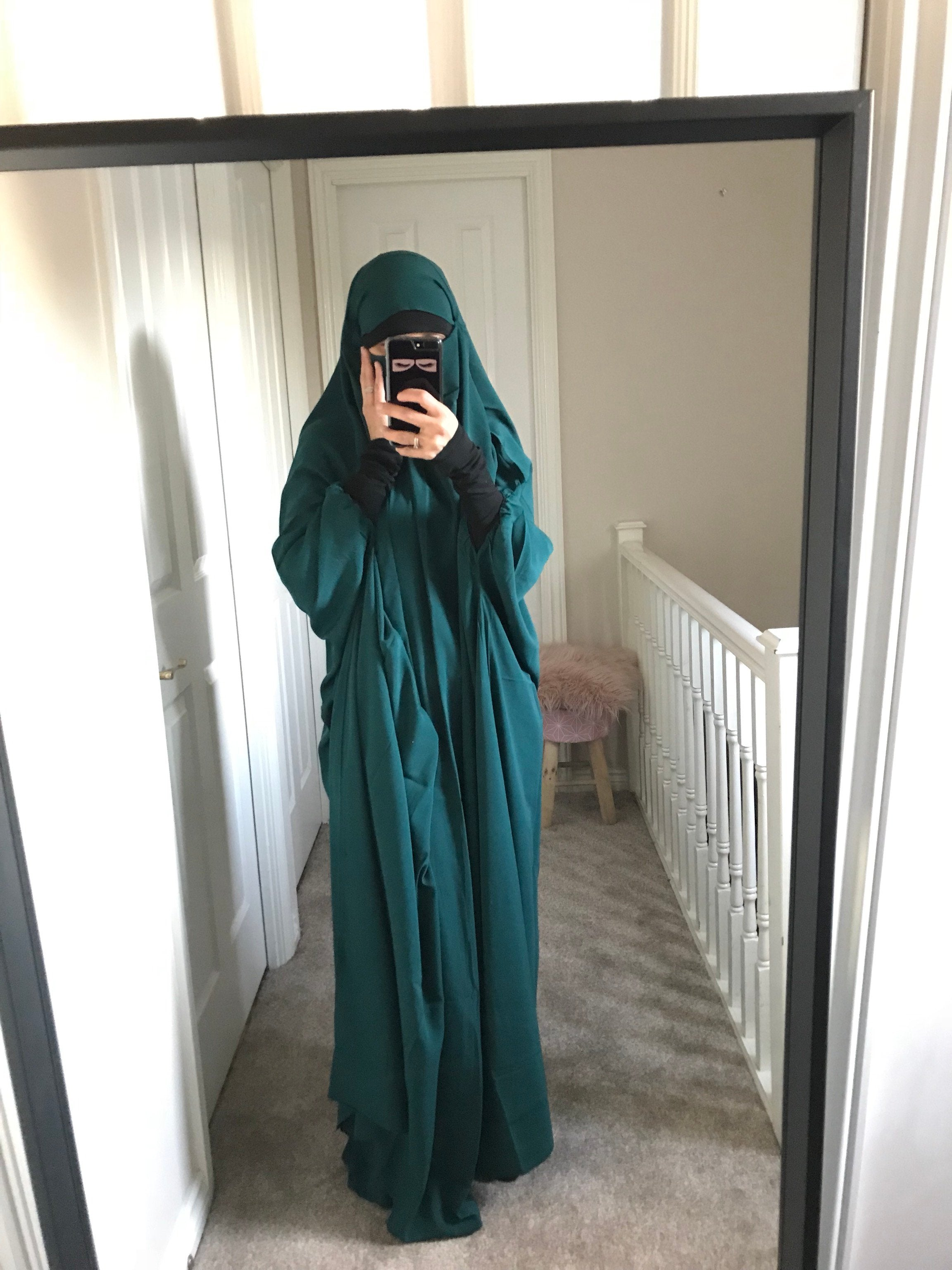 NEW JILBABE 1P NOOR PRESTIGE MITAINS FOREST GREEN