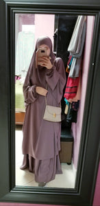 JILBAB 1P/2P CLASSICAL SKIRT OR SERWAL lilac