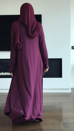 NEW COTTON SET CARDIGAN+LONG SLEEVELESSS DRESS