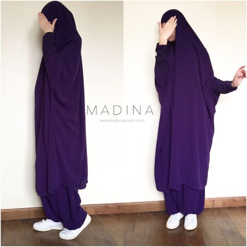 JILBAB AMANA SERWAL OR SKIRT PLUM
