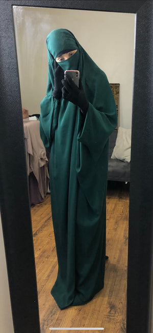 JILBAB CLASSICAL 1 PIECE Green Forest