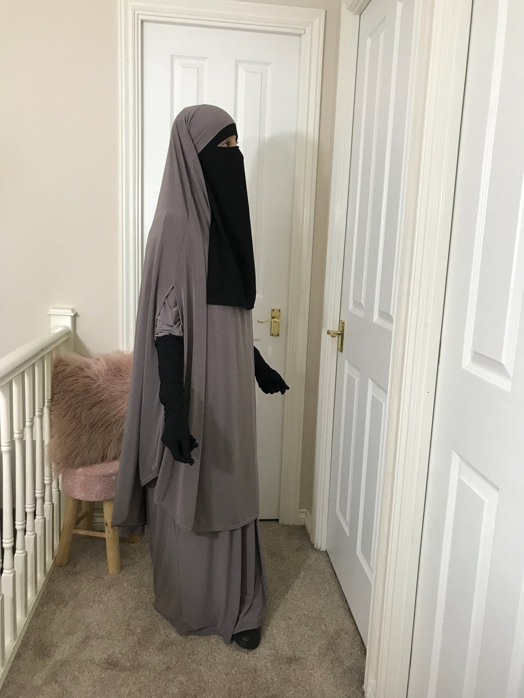 FULL SET JILBAB TOP CAPE + ABAYA PLEATED COMFORT ZAYNAB (all colours )