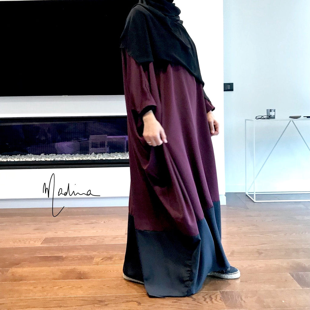 THE ABAYA ESPRESSO PREMIUM Burgundy (+black mitains)