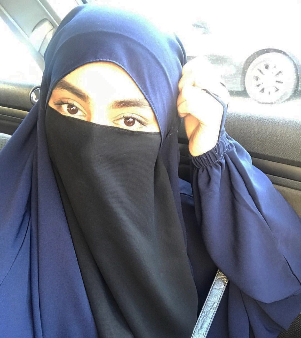 HALF NIQAB BLACK BASIC