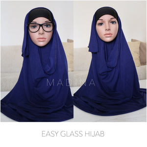 INSTANT HIJAB GLASS KNIT OR JERSEY  (All Colours)
