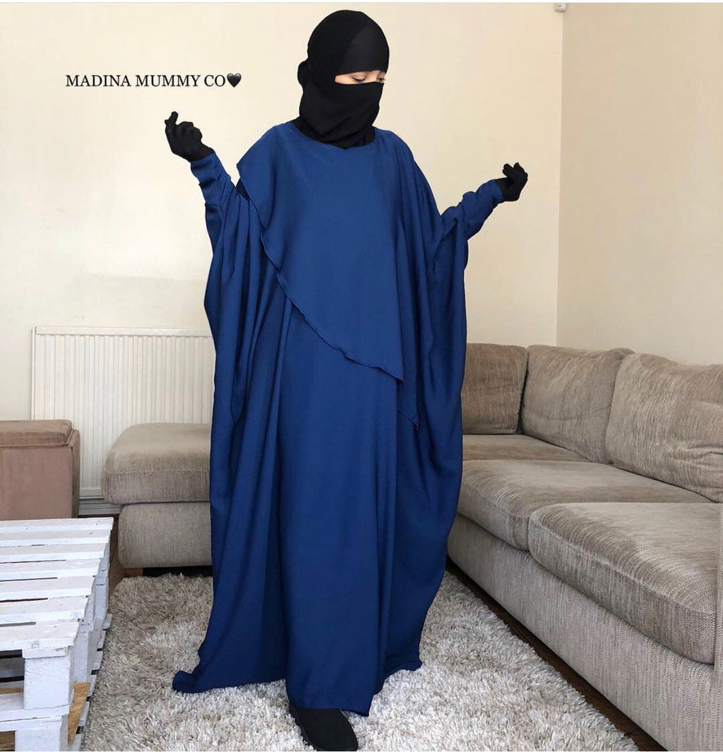 NEW ABAYA MUMMY WAVY BLUE 💙
