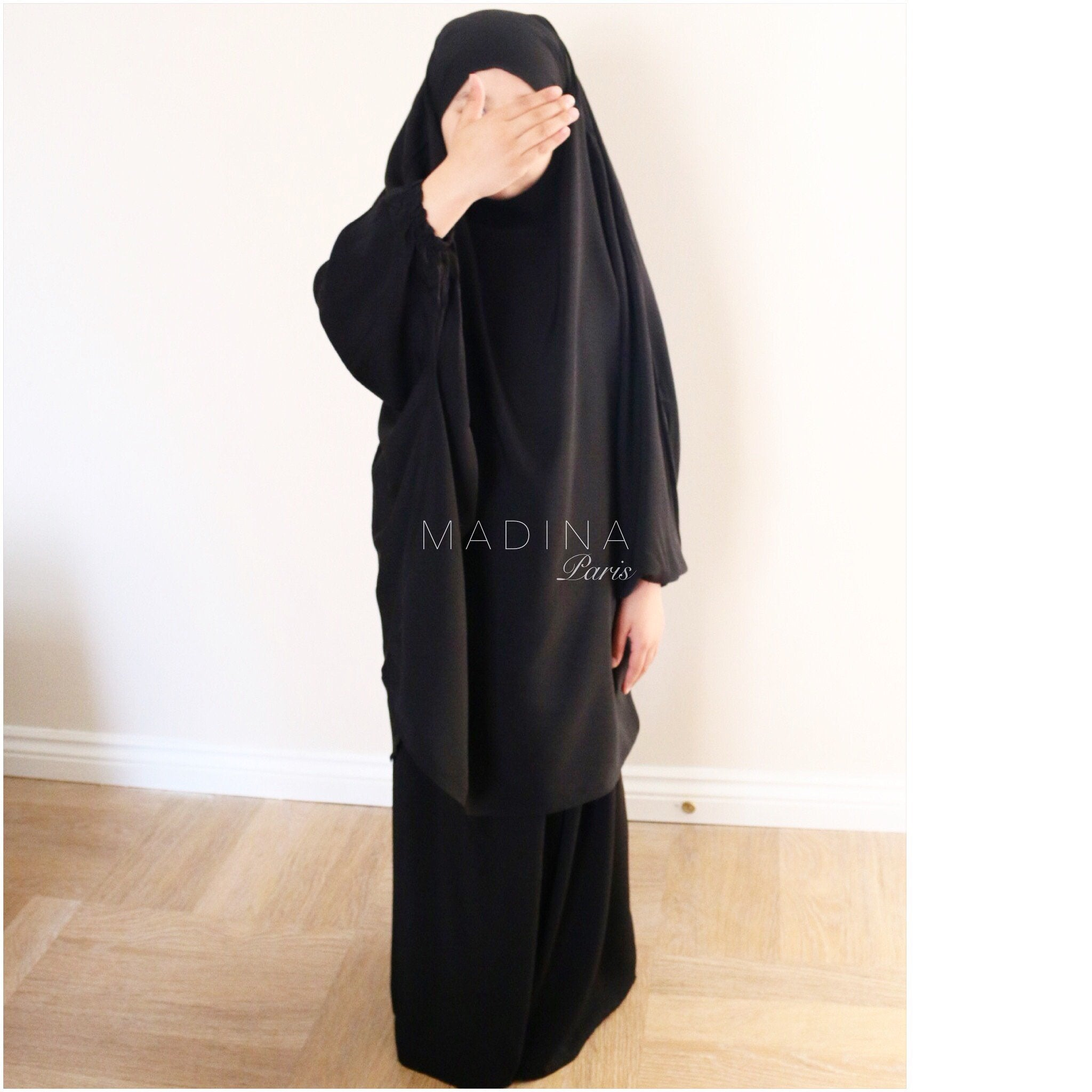 JILBAB GIRL SKIRT OR SERWAL BLACK
