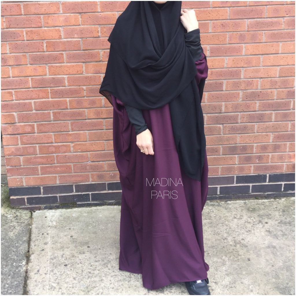 THE PAPILLON ABAYA NOOR NIDHA  Burgundy