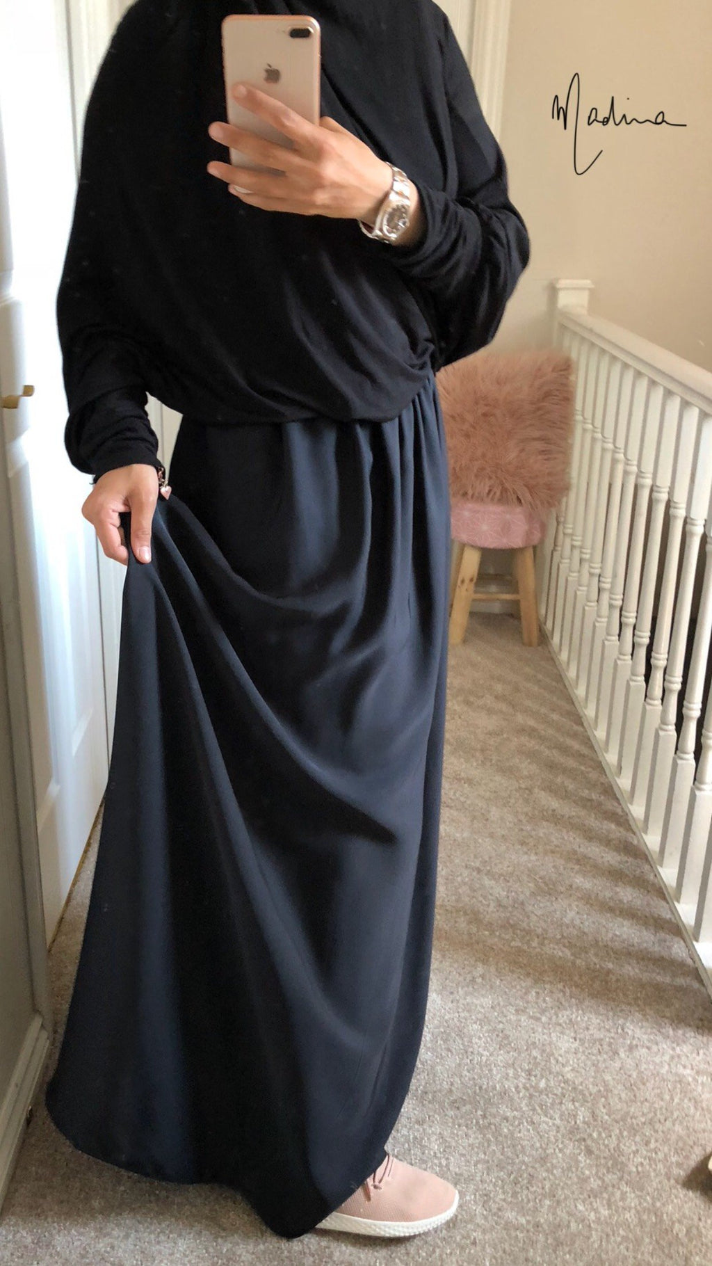 NEW MAXI SKIRT NIDHA BLACK