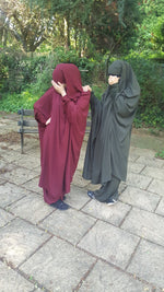 JILBAB AMANA deep BURGUNDY SERWAL OR SKIRT