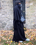 NEW MADINA WINTER PONCHO KNIT BLACK OR DARK BLUE